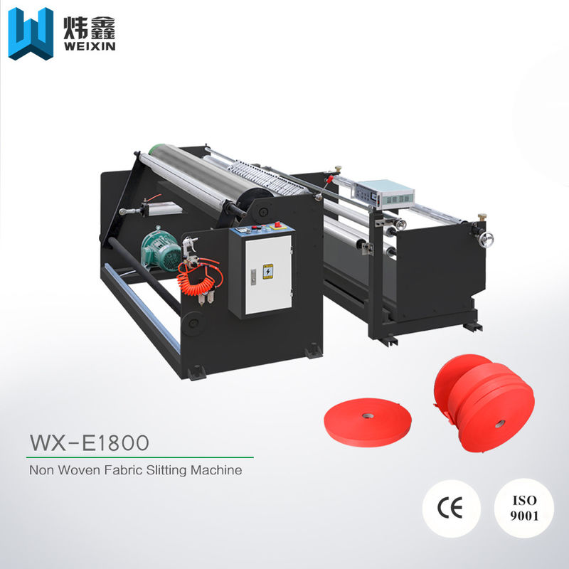 PLC Control Non Woven Fabric Slitting Machine / Circular Knife Film Slitting Machine