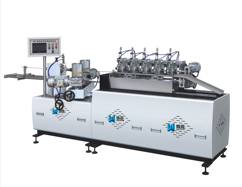 Drinking Straw Making Paper Tube Machine , CE Paper Pipe Making Machine